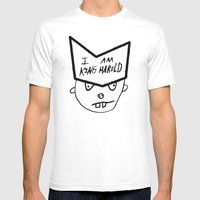 I Am King Harold Mens Fitted Tee White SMALL