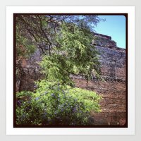 Art Print featuring brick wall by sandra lee russell
