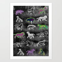 Directional Animals Art Print