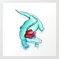 Krokodille Art Print