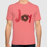 Holiday Joy at Christmastime!  Mens Fitted Tee Pomegranate SMALL