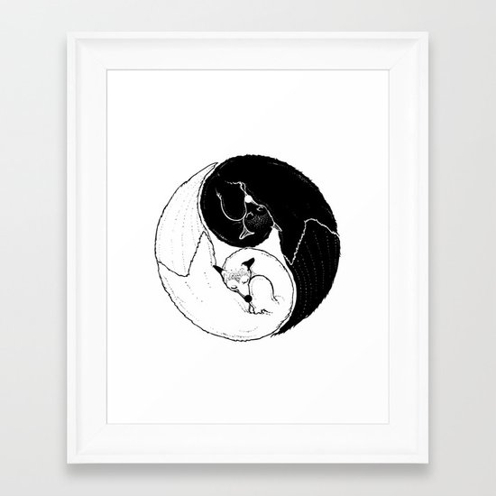 The Tao of Fox  Framed Art Print