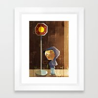 On The Sunny Side Of The Street Framed Art Print