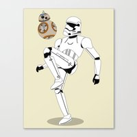 Droid Soccer Canvas Print