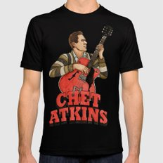 Chet Atkins SMALL Black Mens Fitted Tee