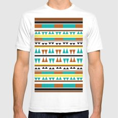 Pattern 2  Mens Fitted Tee SMALL White