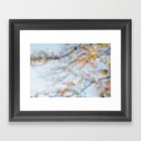 Autumn Bokeh Framed Art Print