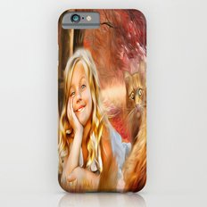 The little girl and the cat iPhone 6 Slim Case