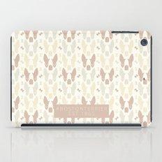 Boston Terrier Wood Pattern iPad Case