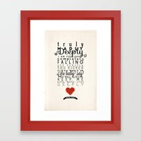 One Direction: Truly Mad… Framed Art Print