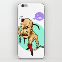 angry guy iPhone & iPod Skin