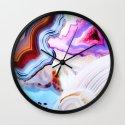 Agate, a vivid Metamorphic rock on Fire Wall Clock