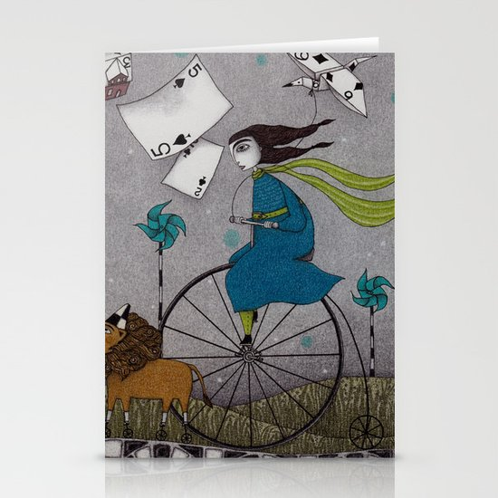 I Follow the Wind Stationery Card