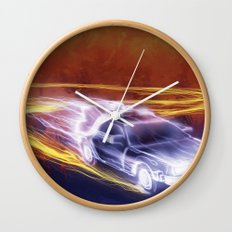 Neon Back to the Future Wall Clock