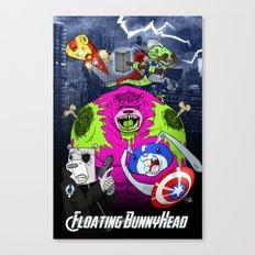 Floating BunnyHead + Avengers Canvas Print