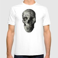 The Eternal Return Of The Unique Event (P/D3 Glitch Collage Studies) Mens Fitted Tee White SMALL