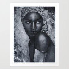 Black beauty Art Print