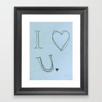 I Heart You, Baby Framed Art Print