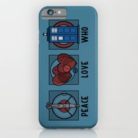 Peace, Love, Who iPhone 6 Slim Case