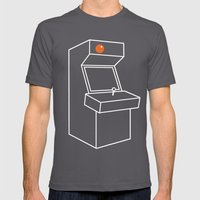 MAGIC ORANGE ARCADE Mens Fitted Tee Asphalt SMALL