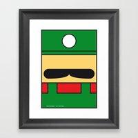 MY LUIGI MARIO BROS MINI… Framed Art Print