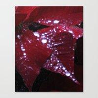 Diamonds on red velvet Canvas Print