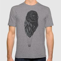 Hot Owl Balloon Mens Fitted Tee Athletic Grey SMALL