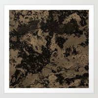 Galaxy in Taupe Art Print