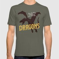 Dragons Mens Fitted Tee Lieutenant SMALL