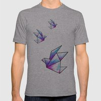 Origami Pastels Mens Fitted Tee Athletic Grey SMALL