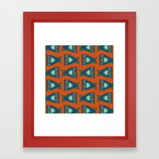 FISH TAILS Framed Art Print