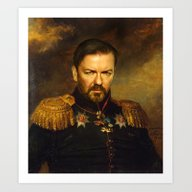 Ricky Gervais - Replacef… Art Print