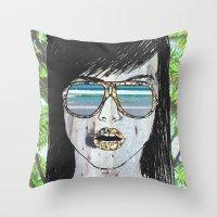 Tropical Zombie  Throw Pillow