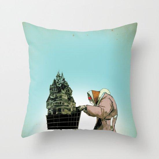 "Glue Network Print Series ""Homelessness"" Throw Pillow"