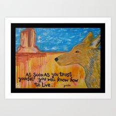 Coyote Wisdom Art Print
