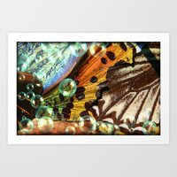 Bubbles and Butterfly Wings Art Print