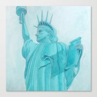 BROOKLYN LIBERTYsquared - metal print Canvas Print
