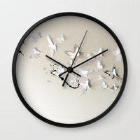 Butterfly Birds Wall Clock