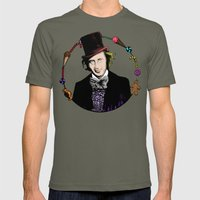 Merry Christmas From The Chocolate Factory Mens Fitted Tee Lieutenant SMALL