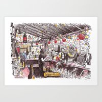 The Galley Bar, Santa Mo… Art Print