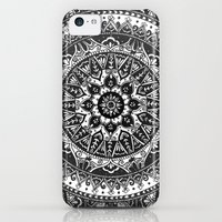 iPhone 5c Cases featuring Black and White Mandala Pattern by Laurel Mae