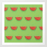 Mmmmm....Watermelon Art Print