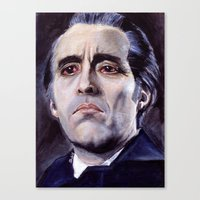 Christopher Lee as Dracula: He is the embodiment of all that is evil. Canvas Print