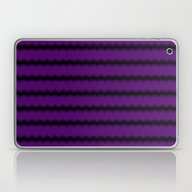 Black Lacey Pattern On P… Laptop & iPad Skin