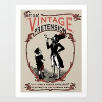 Ye Oldé Vintage Pretens… Art Print