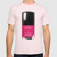 Chanel Nail Polish Rose … Mens Fitted Tee Light Pink SMALL