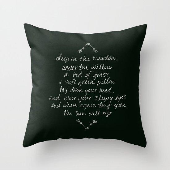 Rue's Song Throw Pillow