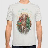 peru Mens Fitted Tee Silver SMALL