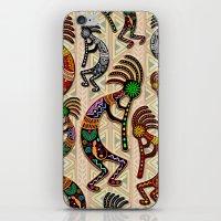 Kokopelli Rainbow Colors on Tribal Pattern  iPhone & iPod Skin