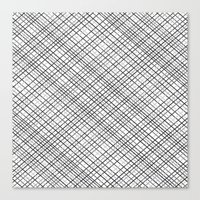 Weave 45 Black And White Canvas Print